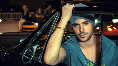 Zac Efron wallpaper with an automobile titled Zac Efron