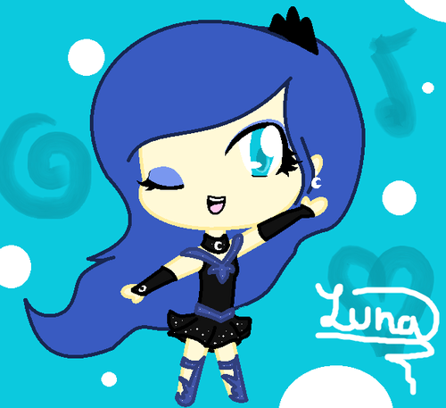 My Little Pony Friendship is Magic wallpaper with anime called chibi luna