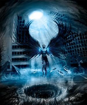 dark angel in city
