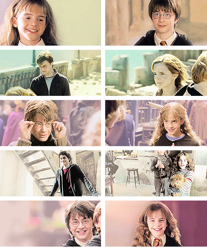 Hermione Granger wolpeyper possibly containing a portrait entitled harry hermione friendship