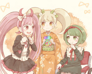 kotoko, saionji, and monaka