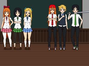 powerpuff girls in school
