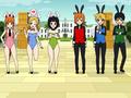 powerpuff girls rabbit cafe - powerpuff-girls fan art