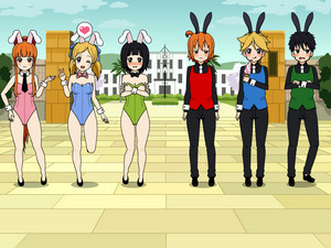 powerpuff girls rabbit cafe