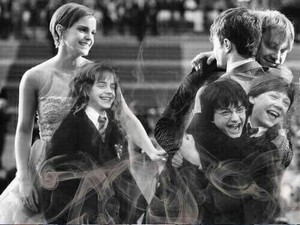 the Harry Potter trio...then and now