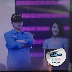150813 ‪‎IU‬ and GD‬ picture preview at Infinity Challenge Music Festival