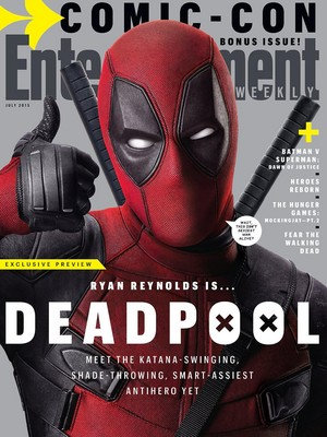 'Deadpool' (2016) on the Cover of Entertainment Weekly