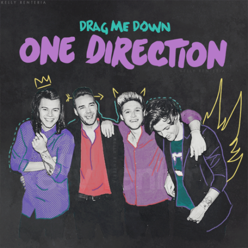 One Direction wallpaper containing anime called              Drag me Down