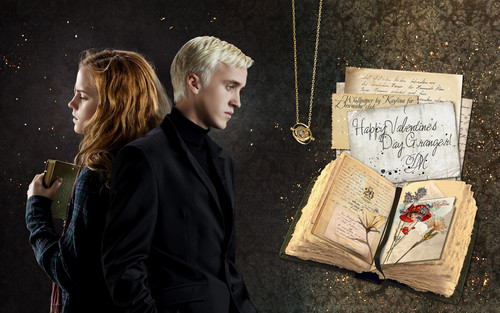 Dramione wallpaper possibly with a sign entitled  Dramione