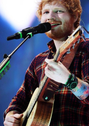 Ed Sheeran wallpaper containing a guitarist and a concert titled                       Ed Concert at Croke Park