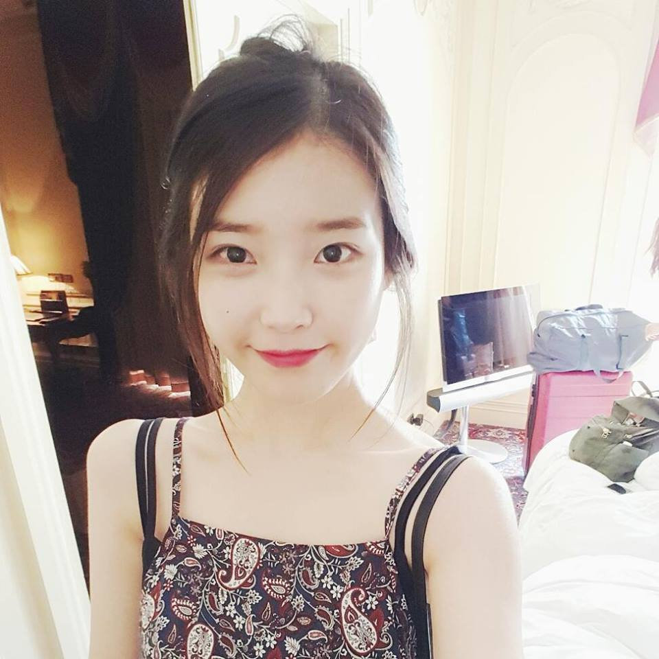 [IUSTAGRAM] 150806 ‪‎IU‬ posted a cute selca while on vacation