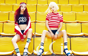 Nine Muses Minha and Sojin for CeCi Magazine August 2015