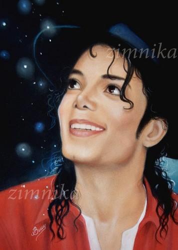 Michael Jackson karatasi la kupamba ukuta probably with a portrait entitled Майкл Джексон
