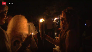 Candlelight vigil at Graceland for Elvis 2015.