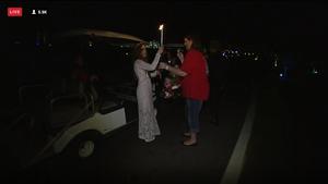 Candlelight vigil at Graceland for Elvis 2015.