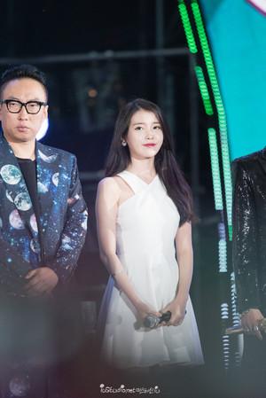 150813 ইউ at Infinity Challenge Song Festival with GD and Park Myungsoo
