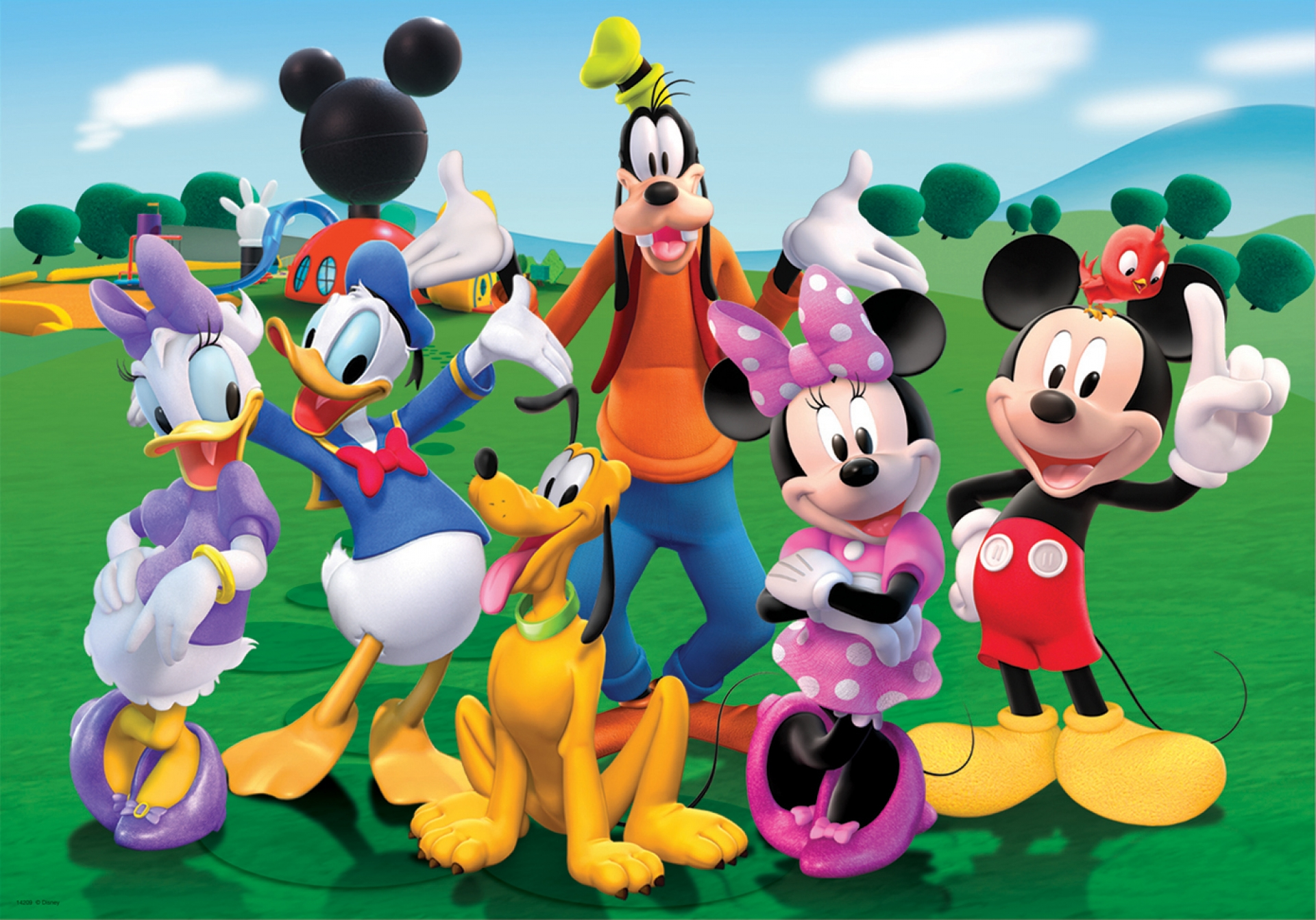 5823 puzzle mickey topo, mouse club house 100 piezas 1920x1080