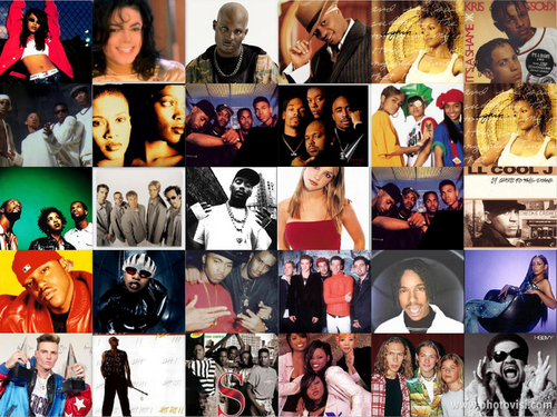 Music icon collage