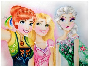 Anna, Elsa and Rapunzel