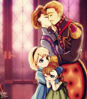 Anna, Elsa and their Parents