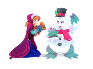 Anna and Abomosnow