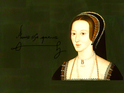 Women in History wallpaper probably with a mantilla and a mantelet entitled Anne Boleyn