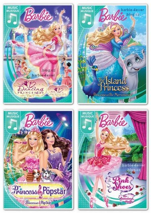 Barbie Movies NEW DVD COVERS!