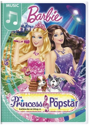 बार्बी The Princess & The Popstar NEW DVD ARTWORK