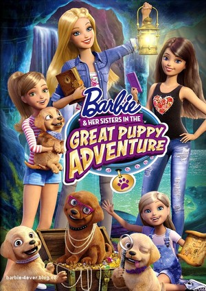 Barbie & Her Sisters in The Great کتے Adventure DVD Cover