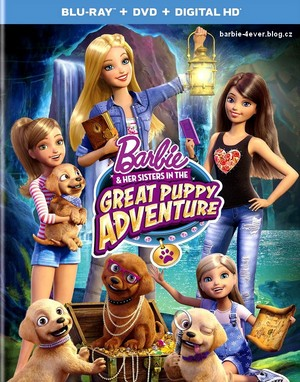Barbie & Her Sisters in The Great Puppy Adventure Blu-ray + DVD + Digital HD Cover