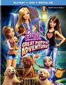 búp bê barbie & Her Sisters in The Great cún yêu, con chó con Adventure Blu-ray + DVD + Digital HD Cover