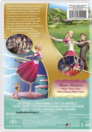 バービー in The 12 Dancing Princesses NEW DVD ARTWORK