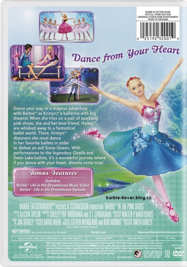 Barbie in The pink Shoes NEW DVD ARTWORK