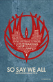 BattleStar Galactica Quote Poster - battlestar-galactica fan art