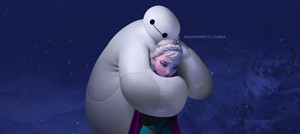 Baymax and Elsa