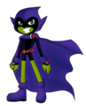 Beast Boy as Raven - teen-titans fan art
