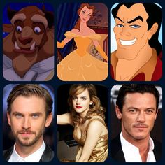 Beauty and the Beast (2017) fond d'écran with animé titled Beauty and the Beast cast