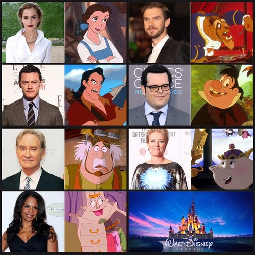Beauty and the Beast (2017) wallpaper entitled Beauty and the Beast cast
