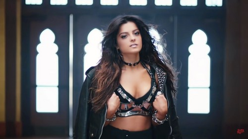 Music wallpaper probably with attractiveness called Bebe Rexha