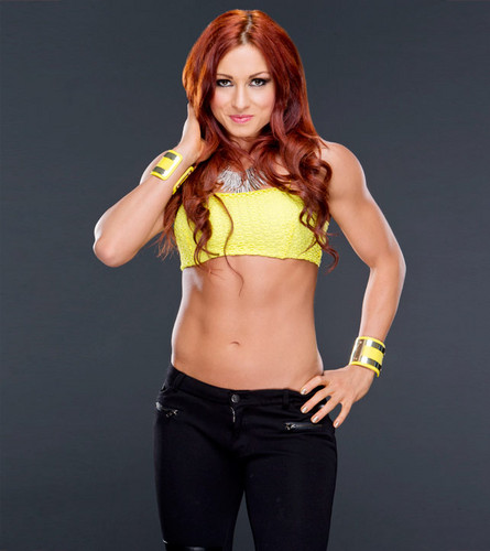 WWE Divas achtergrond probably with bare legs, a legging, hot pants, and hotpants called Becky Lynch