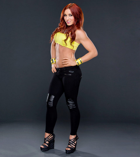 Diva WWE kertas dinding possibly with tights, a hip boot, and a legging entitled Becky Lynch