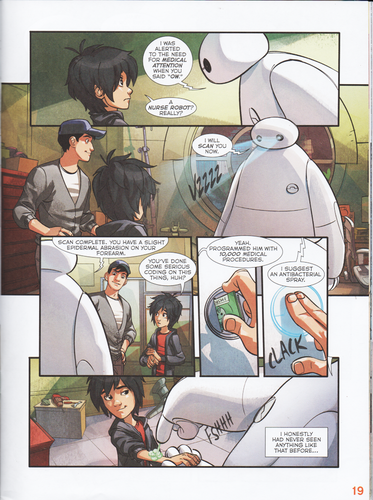 "Big Hero 6 Hintergrund with Anime titled Big Hero 6 Comic - ""Baymax's Best Friend"""