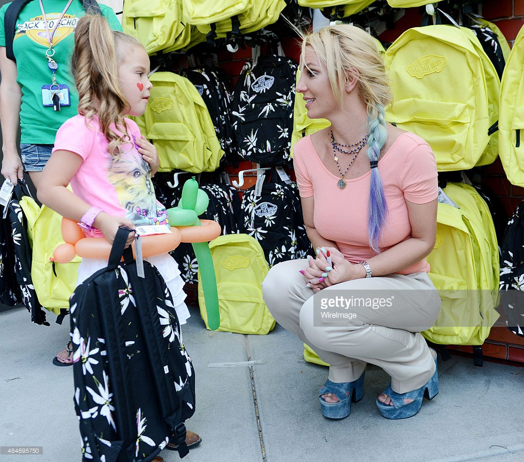 """Britney at charity event """"Back To School"""""""
