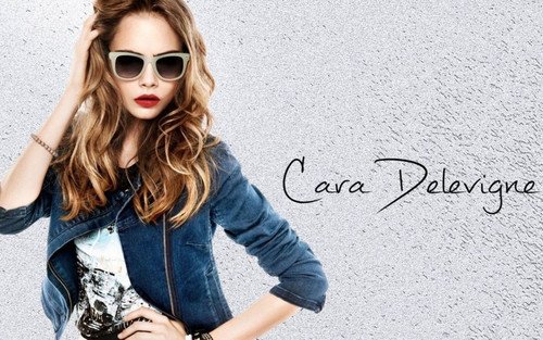 Cara Delevingne karatasi la kupamba ukuta containing sunglasses called Cara Delevingne