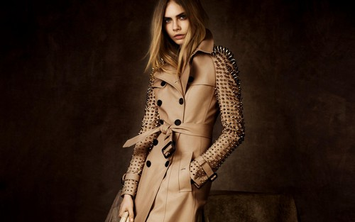 Cara Delevingne Wallpaper Containing A Trench Coat Called
