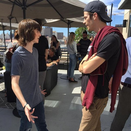 Chandler Riggs Hintergrund possibly with a straße titled Chandler And The Flash