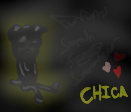 Five Nights at Freddy's wallpaper entitled Chica (grey again lol)