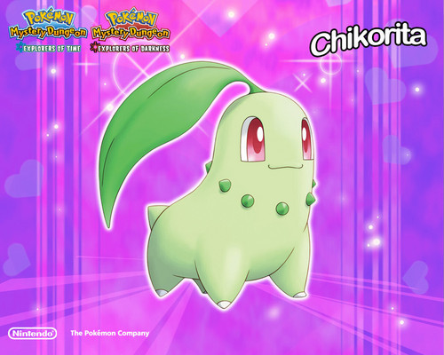 Pokémon wallpaper titled Chikorita