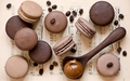 Chocolate Coffee Macaroons  - chocolate wallpaper