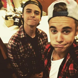 Christian Beadles and Justin Bieber 2015